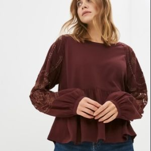 "Free People ""Embroidered Penny Tee"""